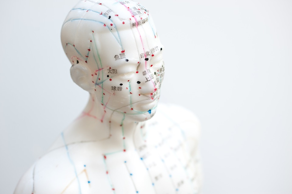acupuncture points in head and chest area